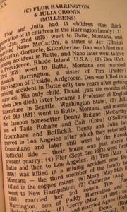 Milleens Parish Ancestry Record